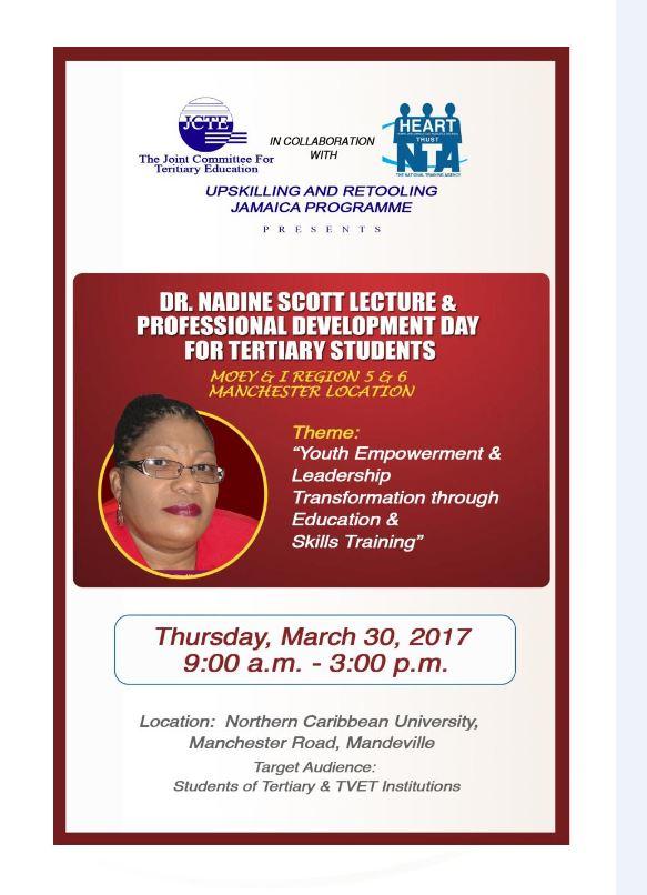 JCTE - Dr Nadine Scott Lecture & Professional Development Day