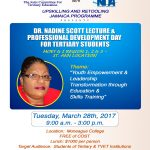 JCTE/HEART TRUST/NTA Dr Nadine Scott Lecture and Professional Development Days