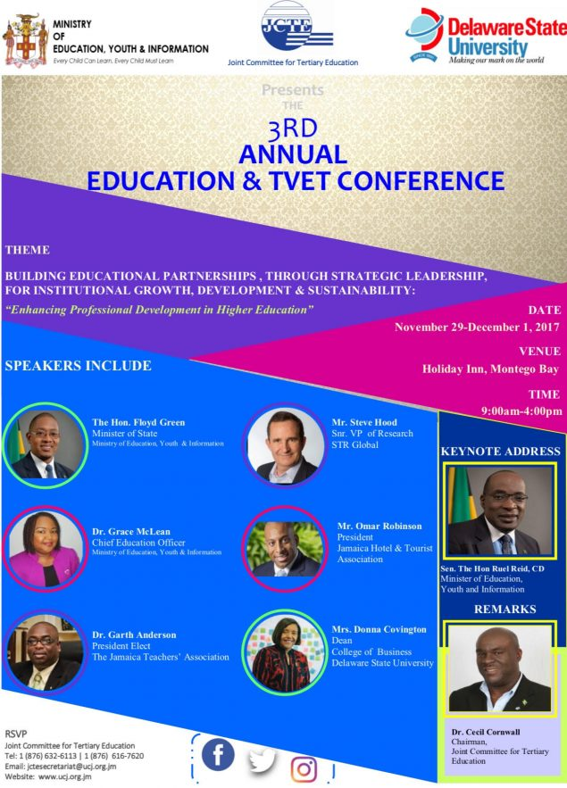 3rd Annual JCTE Education and TVET Conference