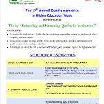 The UCJ celebrates its 13th Annual Quality Assurance in Higher Education Week