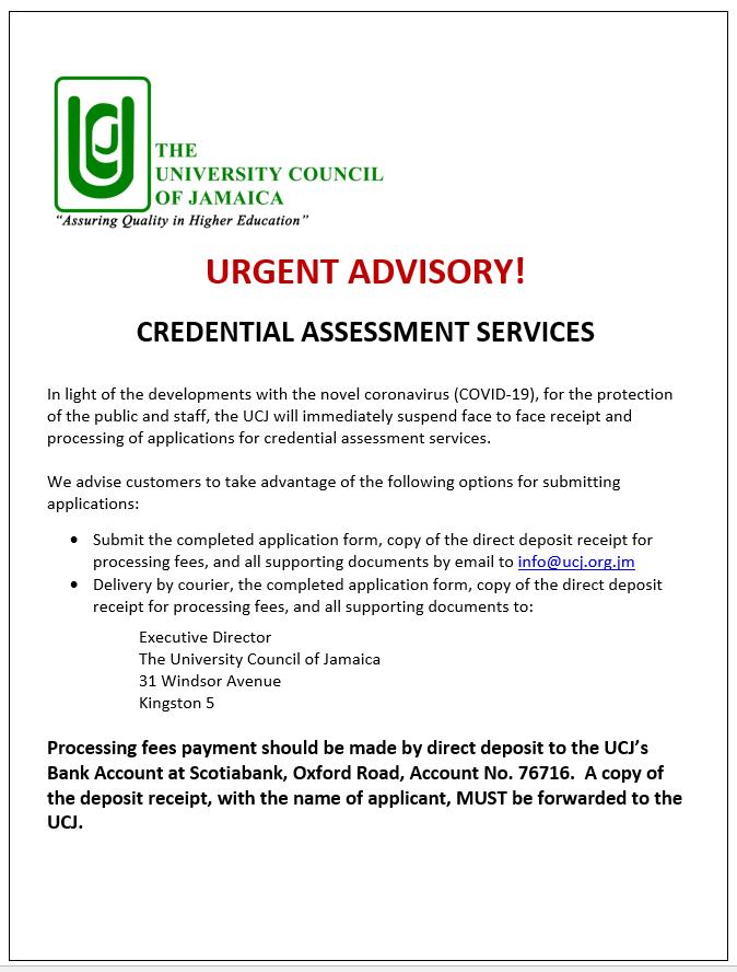 Credential Assessment Advisory