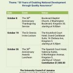 The UCJ celebrates its 30th anniversary in October!