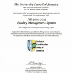 THE UCJ ACHIEVES ISO 9001:2015 CERTIFICATION