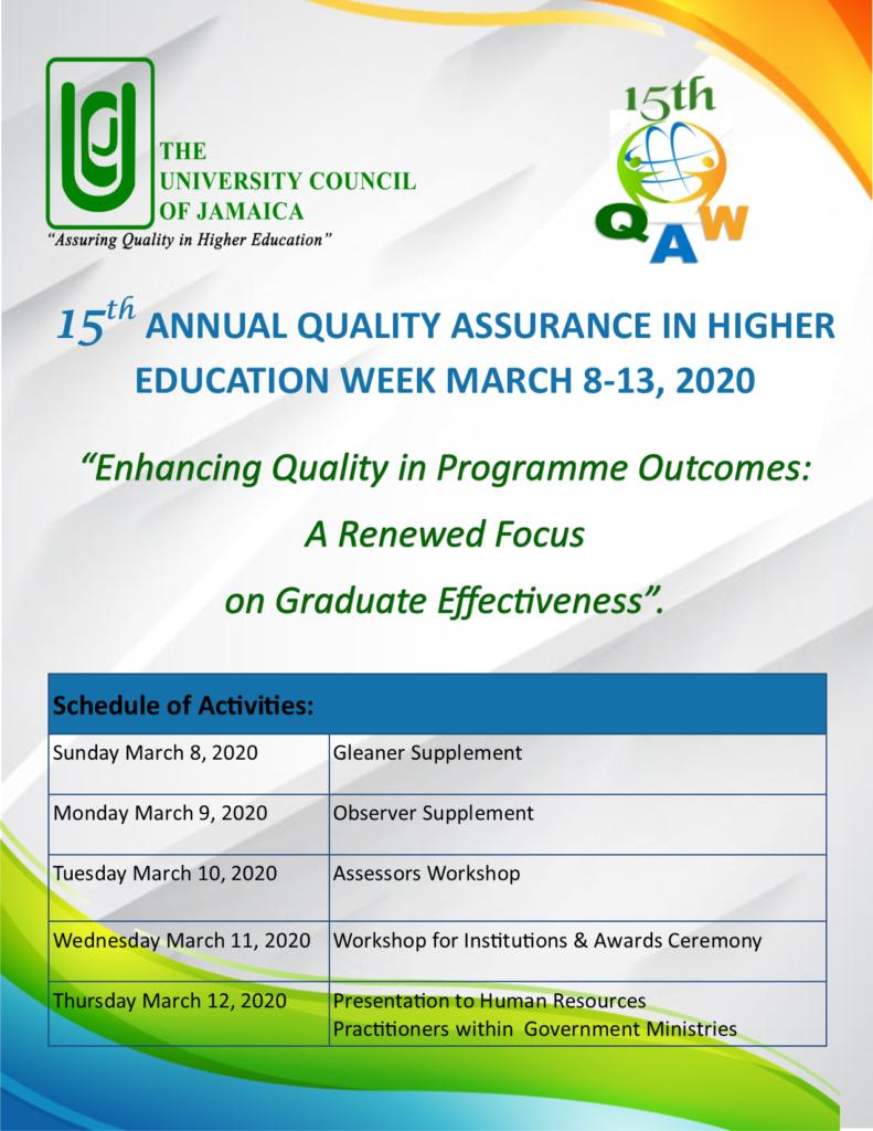 QA Week 2020 Activities